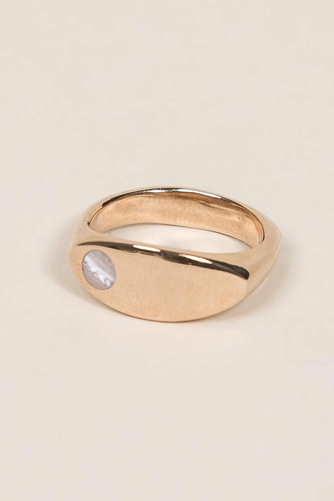 Margaux Ring, Rose Gold/Pearl by URSA MAJOR @ Kick Pleat - 1