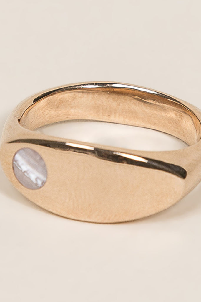 Margaux Ring, Rose Gold/Pearl by URSA MAJOR @ Kick Pleat - 2