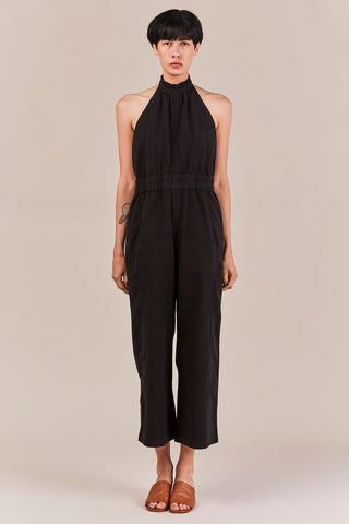 Archer Backless Jumpsuit, Black