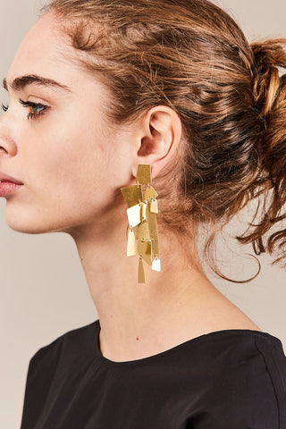 Mika Earrings, Gold