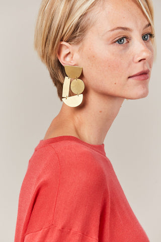 Masha Earrings, Gold