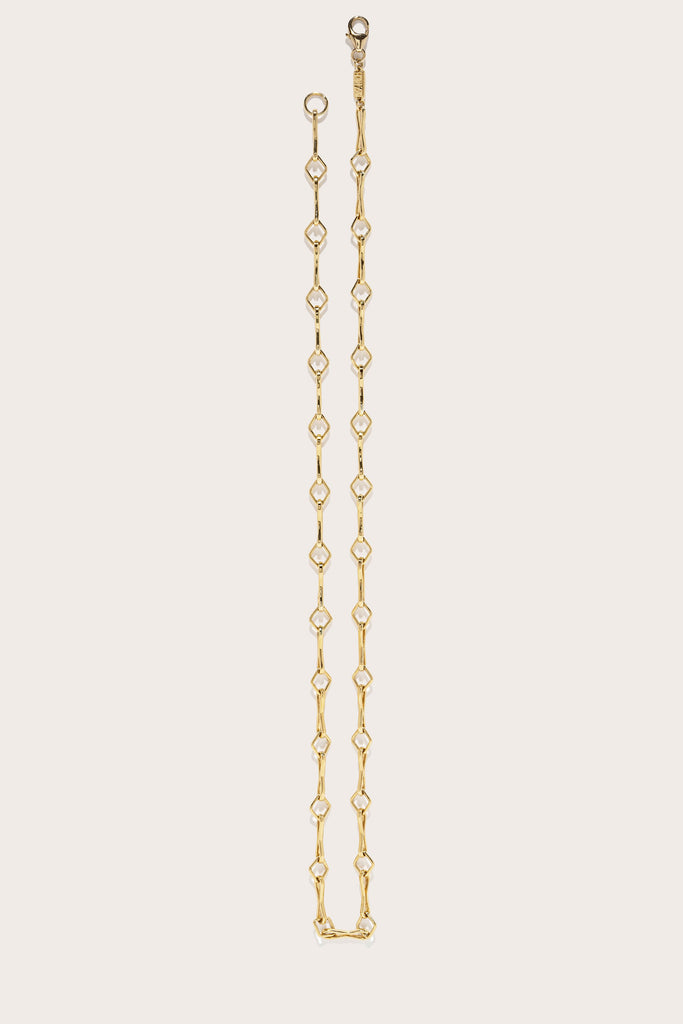 Azlee - Large Diamond Handmade Chain, Gold