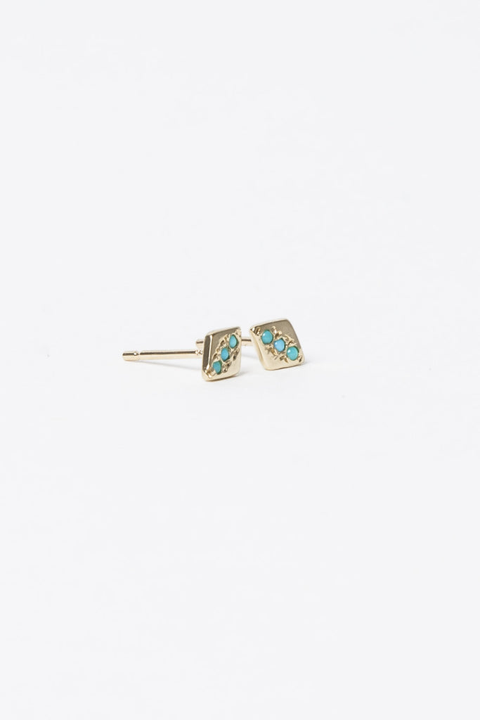 Turquoise Studs by Aili @ Kick Pleat - 1
