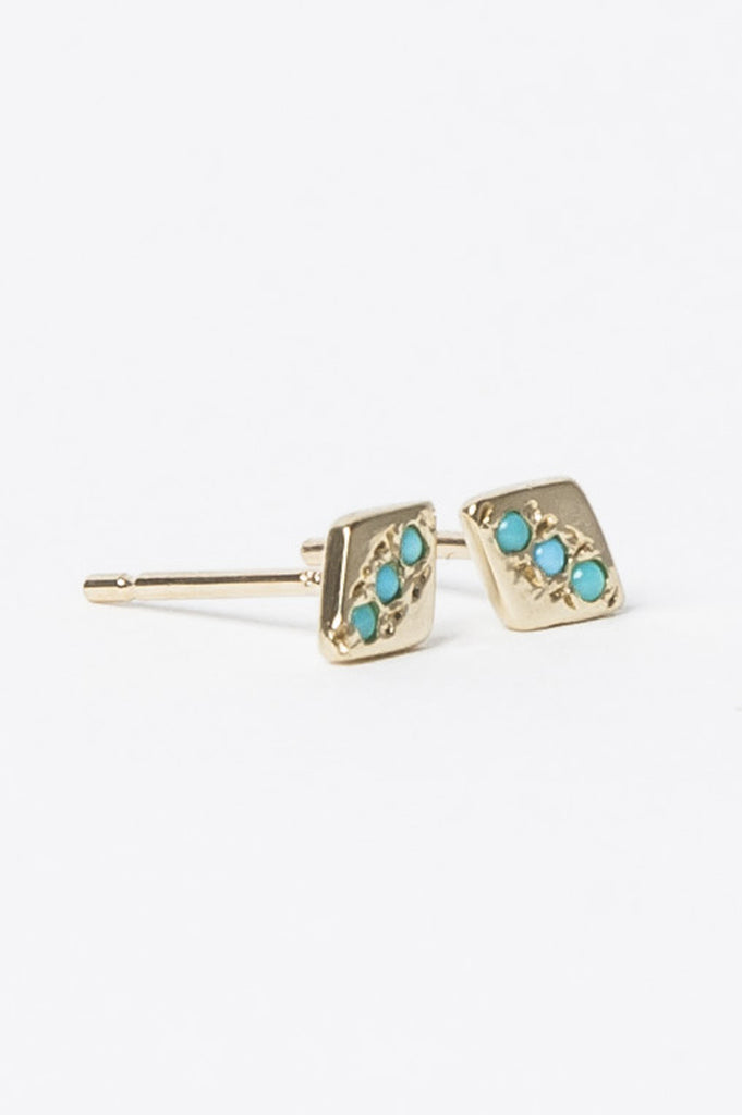 Turquoise Studs by Aili @ Kick Pleat - 2