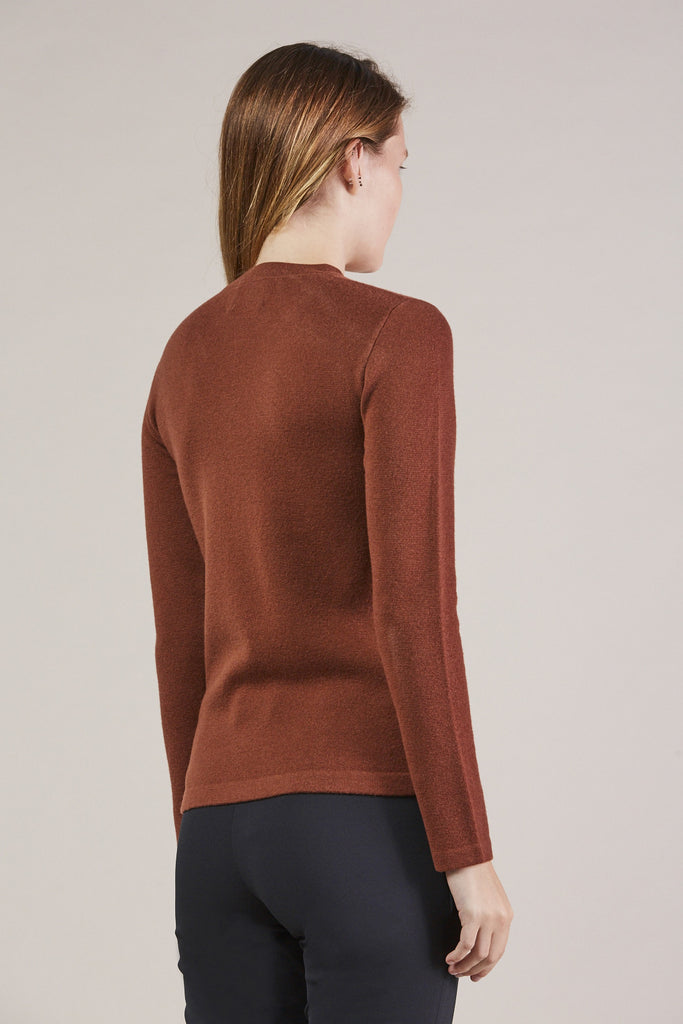 Portrait Mockneck, Maroon by MODERNE @ Kick Pleat - 5