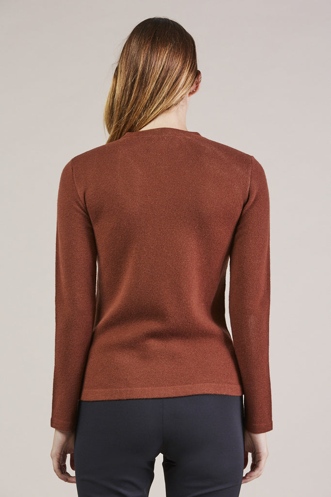 Portrait Mockneck, Maroon by MODERNE @ Kick Pleat - 6
