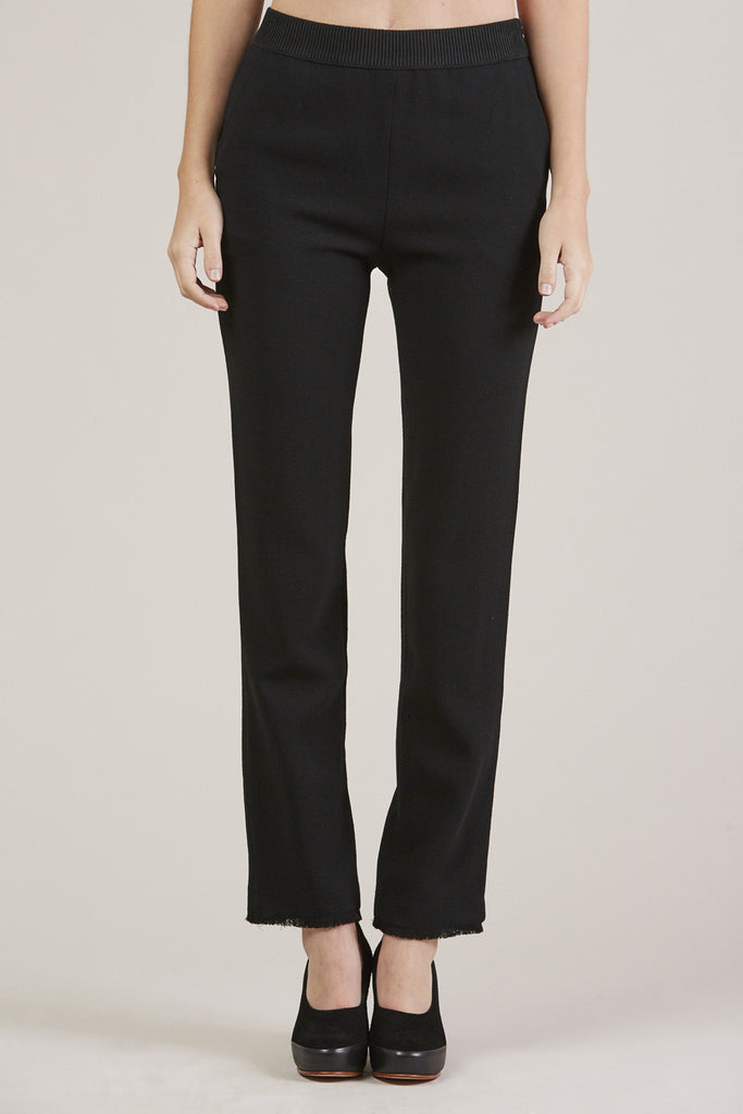 Straight Pants, Black by Veronique Leroy @ Kick Pleat - 1