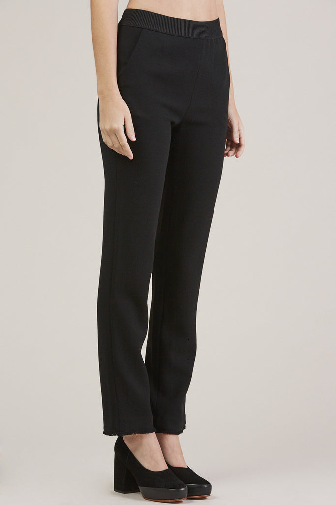 Straight Pants, Black by Veronique Leroy @ Kick Pleat - 3