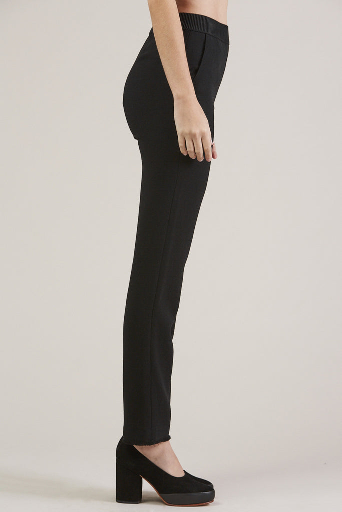 Straight Pants, Black by Veronique Leroy @ Kick Pleat - 4