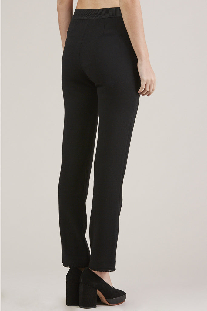 Straight Pants, Black by Veronique Leroy @ Kick Pleat - 5