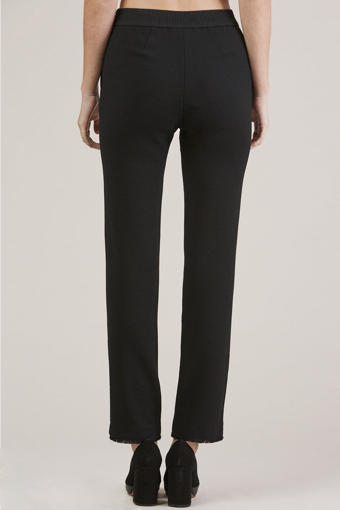 Straight Pants, Black by Veronique Leroy @ Kick Pleat - 6