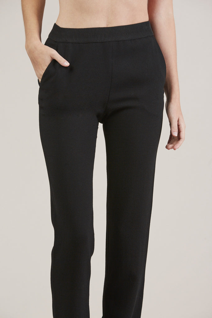 Straight Pants, Black by Veronique Leroy @ Kick Pleat - 7