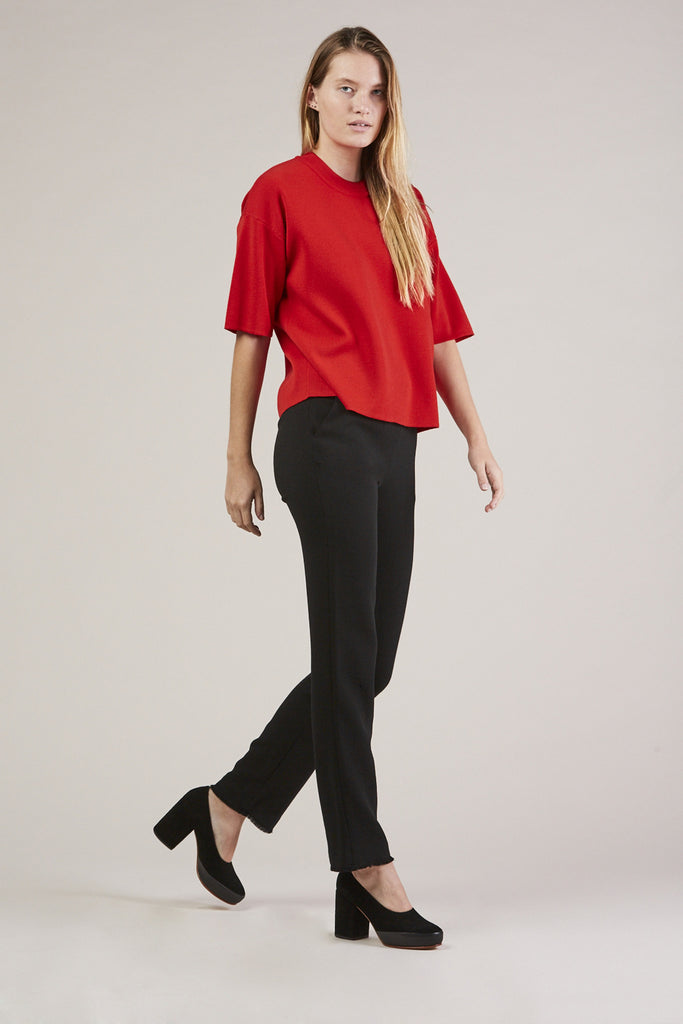 Straight Pants, Black by Veronique Leroy @ Kick Pleat - 2