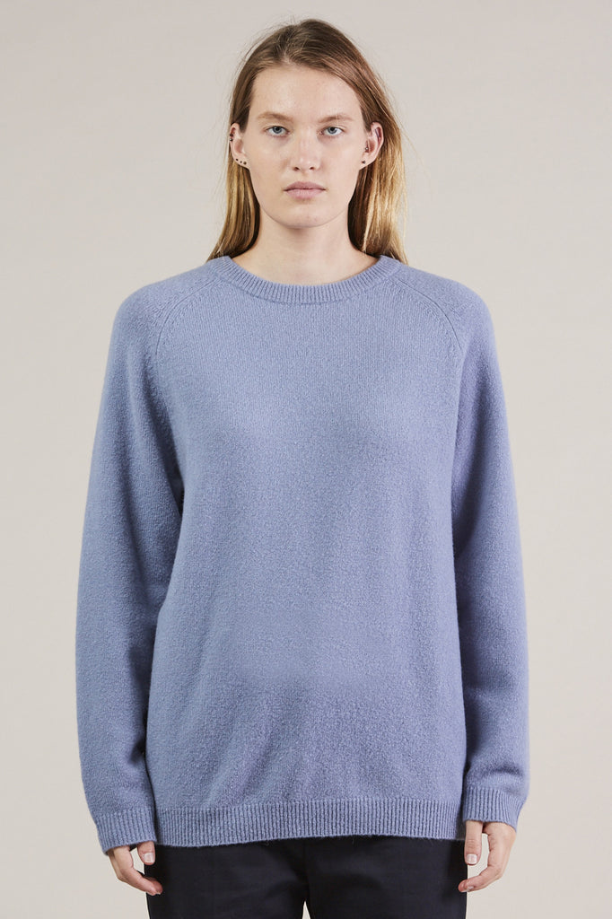 Ajo Felt Fuzzy Sweater, Blue