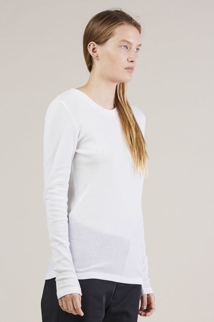 L/S thin rib top, White by NORSE PROJECTS @ Kick Pleat - 2