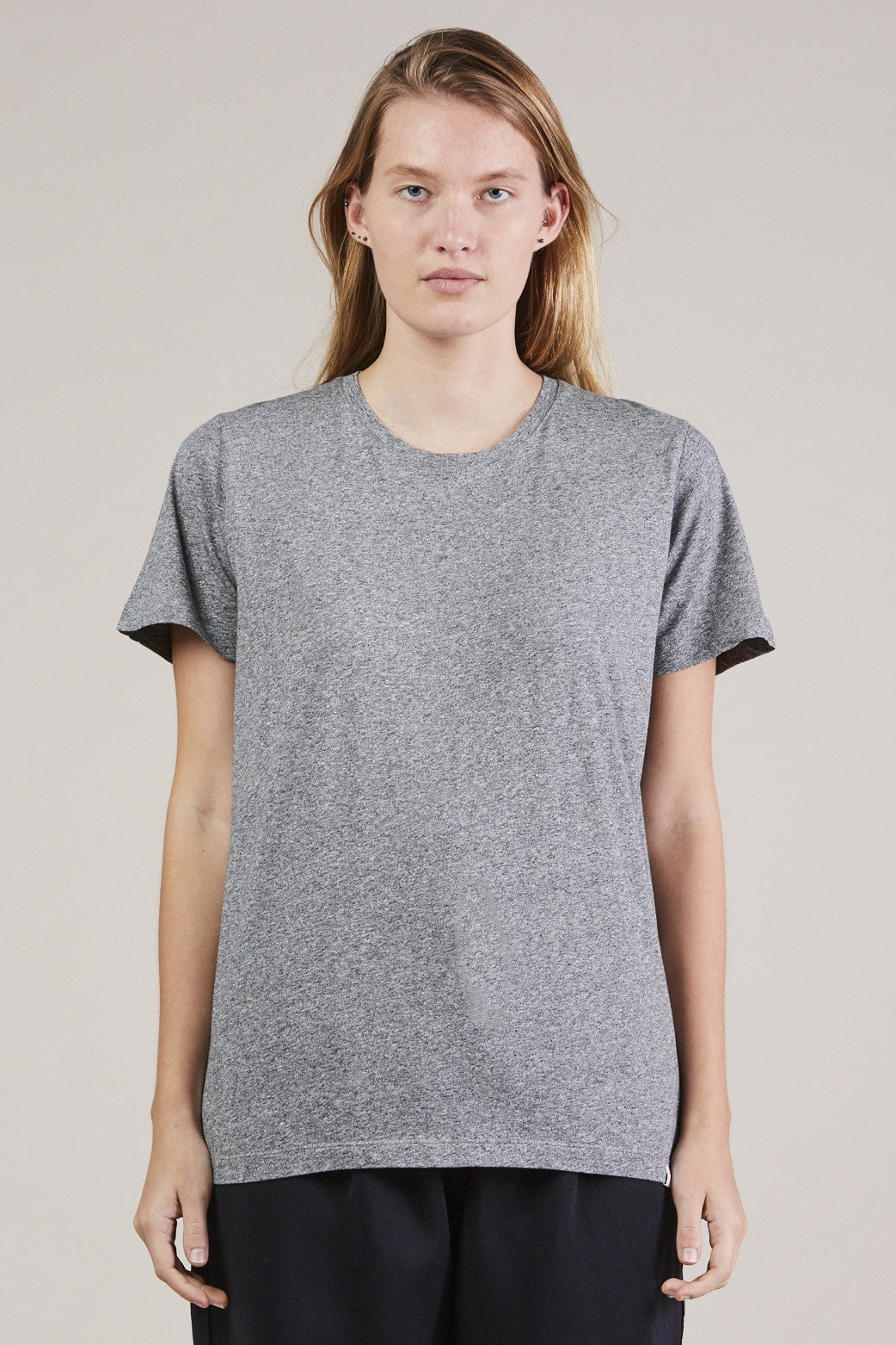 S/S Mercerized tee, Gray by NORSE PROJECTS @ Kick Pleat - 1