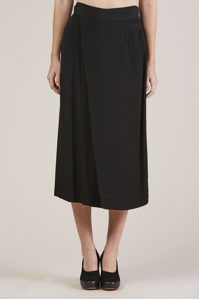 Sandoval Wrap skirt, Black by Apiece Apart @ Kick Pleat - 2