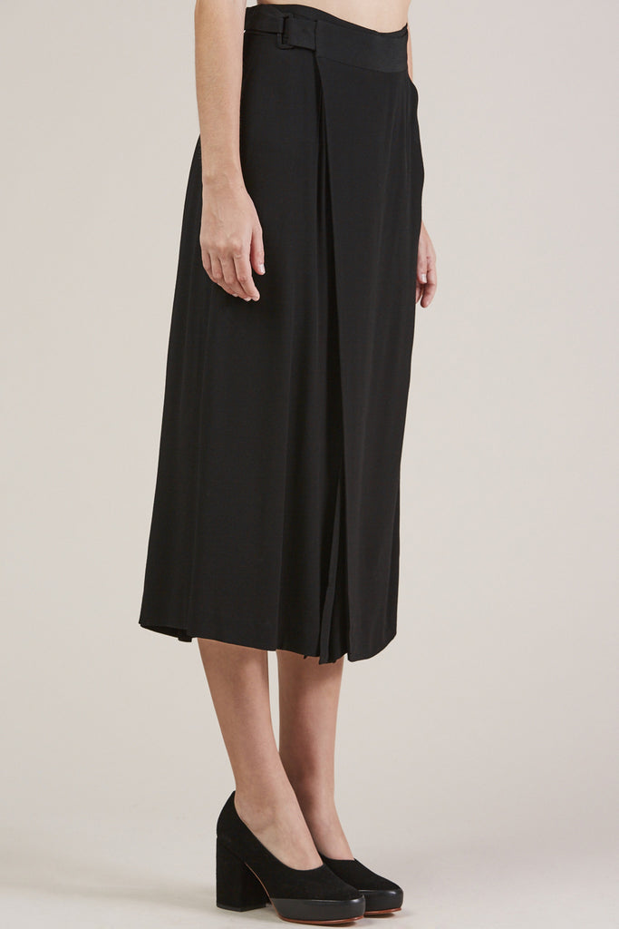 Sandoval Wrap skirt, Black by Apiece Apart @ Kick Pleat - 3