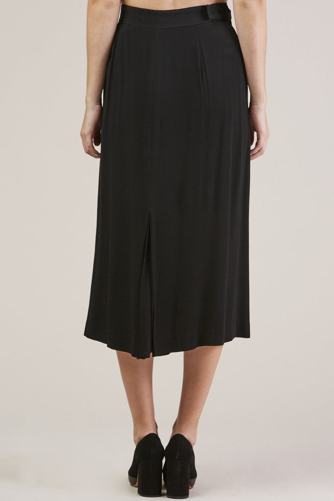 Sandoval Wrap skirt, Black by Apiece Apart @ Kick Pleat - 5
