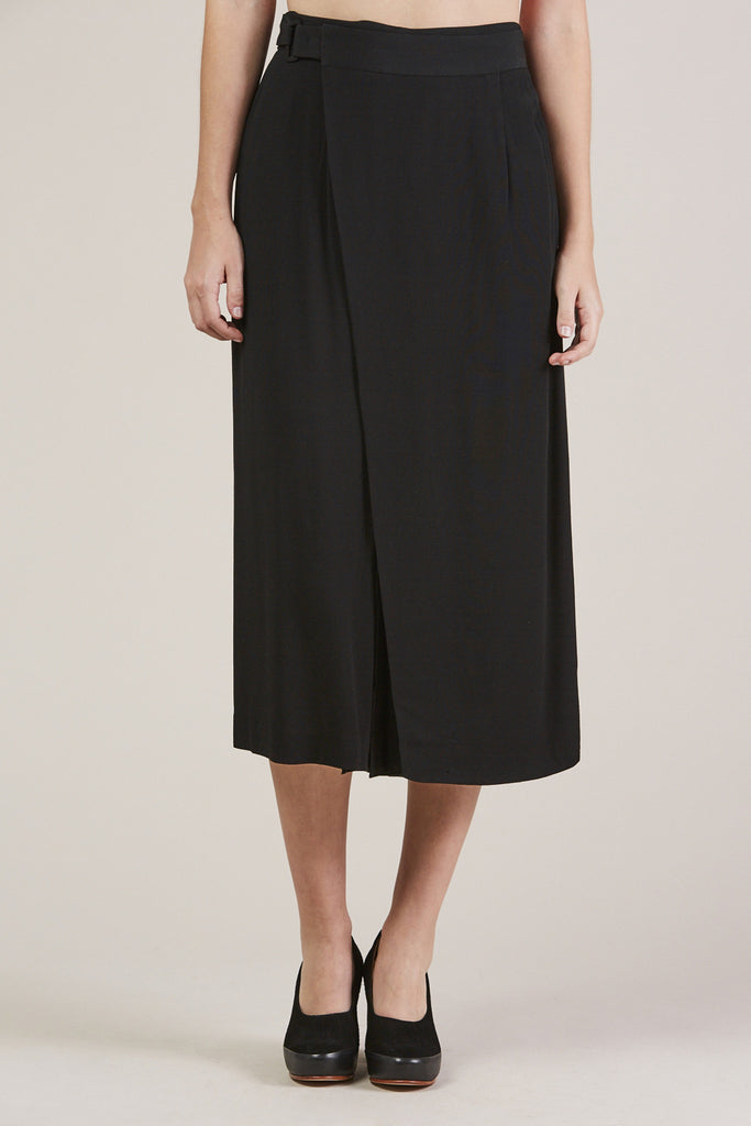 Sandoval Wrap skirt, Black by Apiece Apart @ Kick Pleat - 6