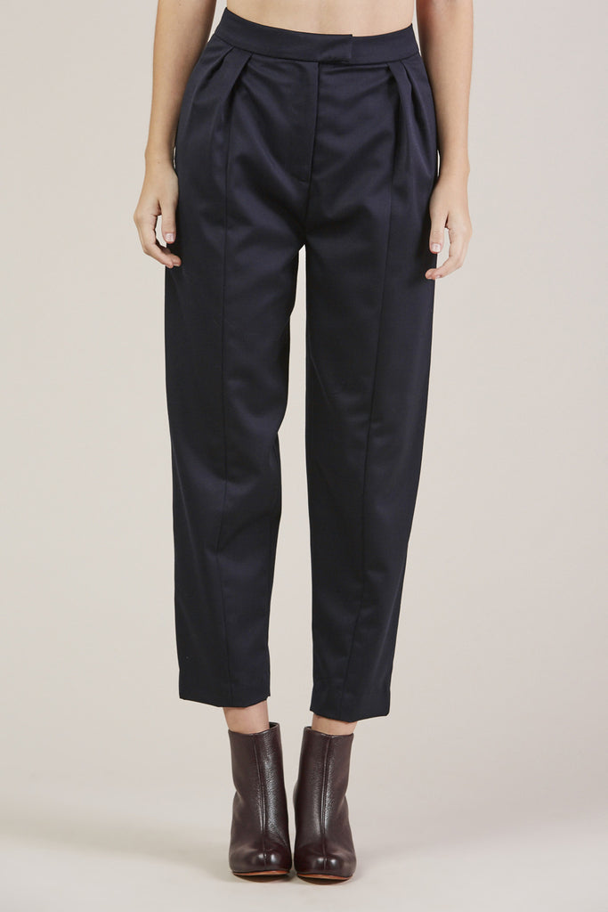 Tucked Pants, Navy by Sayaka Davis @ Kick Pleat - 1
