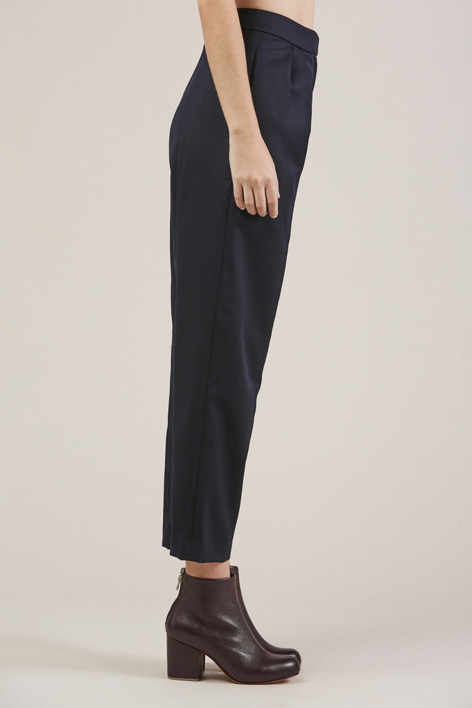 Tucked Pants, Navy by Sayaka Davis @ Kick Pleat - 4