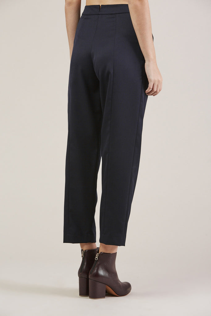 Tucked Pants, Navy by Sayaka Davis @ Kick Pleat - 5