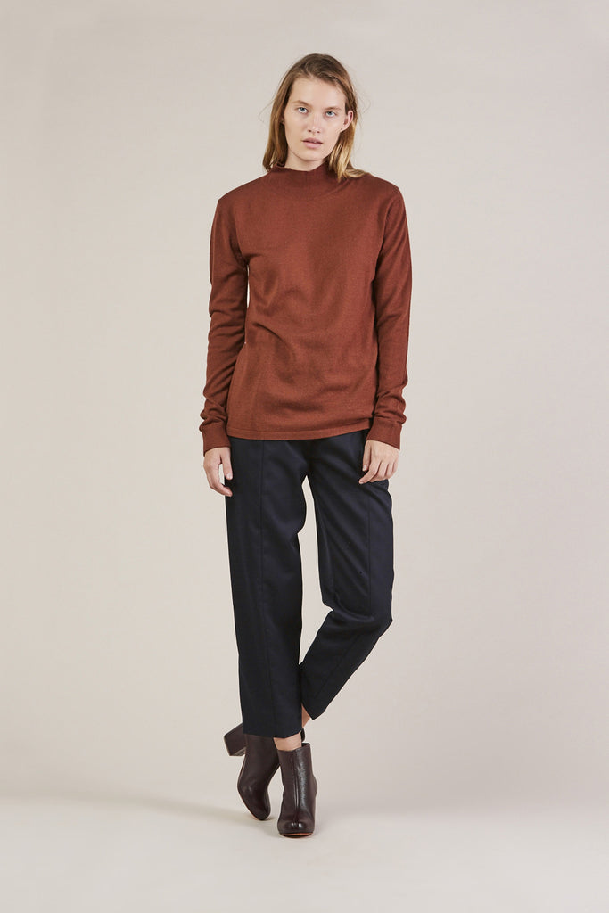 Tucked Pants, Navy by Sayaka Davis @ Kick Pleat - 2