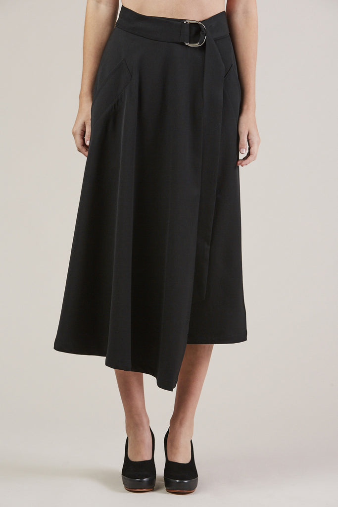 Long Skirt, Black by Veronique Leroy @ Kick Pleat - 2