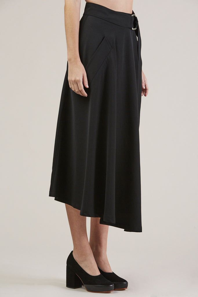 Long Skirt, Black by Veronique Leroy @ Kick Pleat - 3
