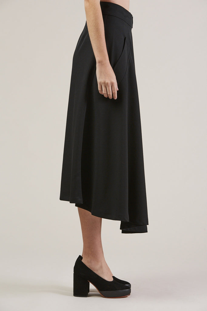 Long Skirt, Black by Veronique Leroy @ Kick Pleat - 4