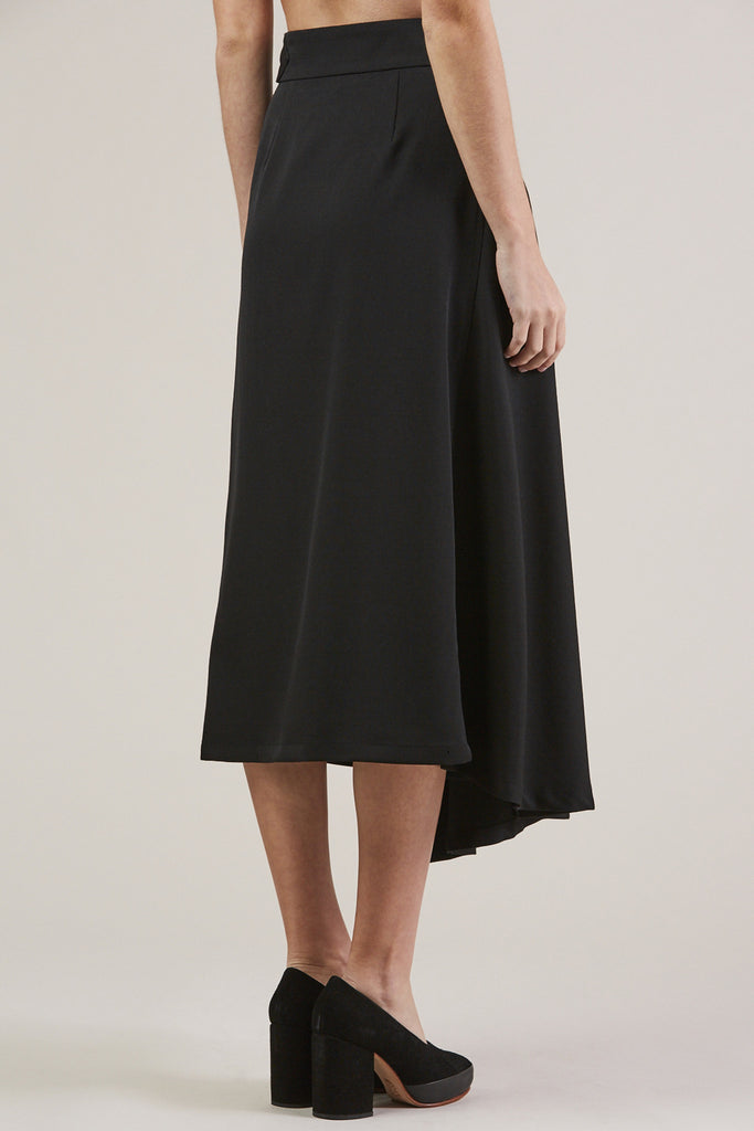 Long Skirt, Black by Veronique Leroy @ Kick Pleat - 5
