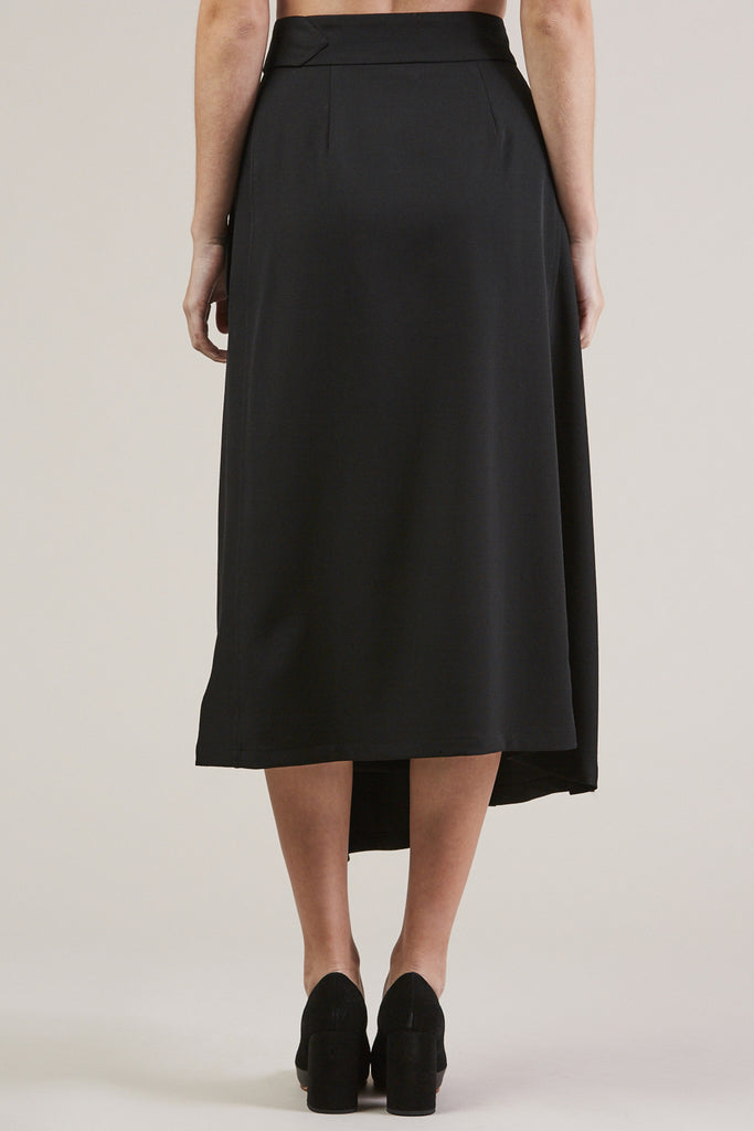 Long Skirt, Black by Veronique Leroy @ Kick Pleat - 6