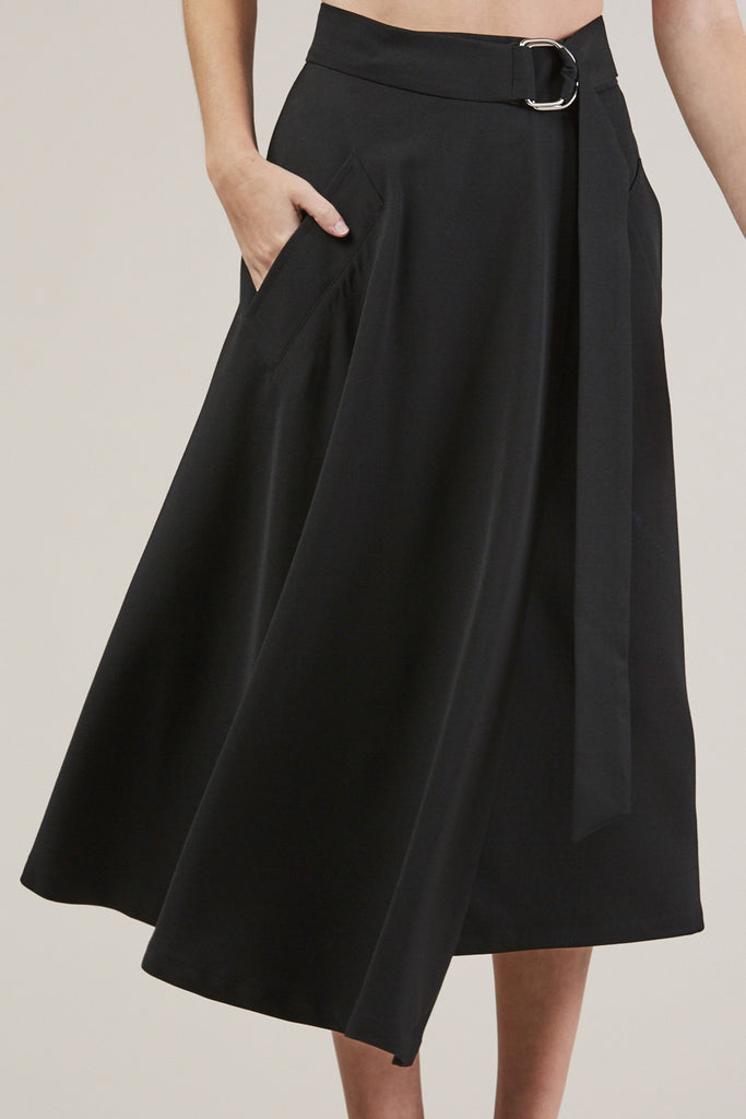 Long Skirt, Black by Veronique Leroy @ Kick Pleat - 7