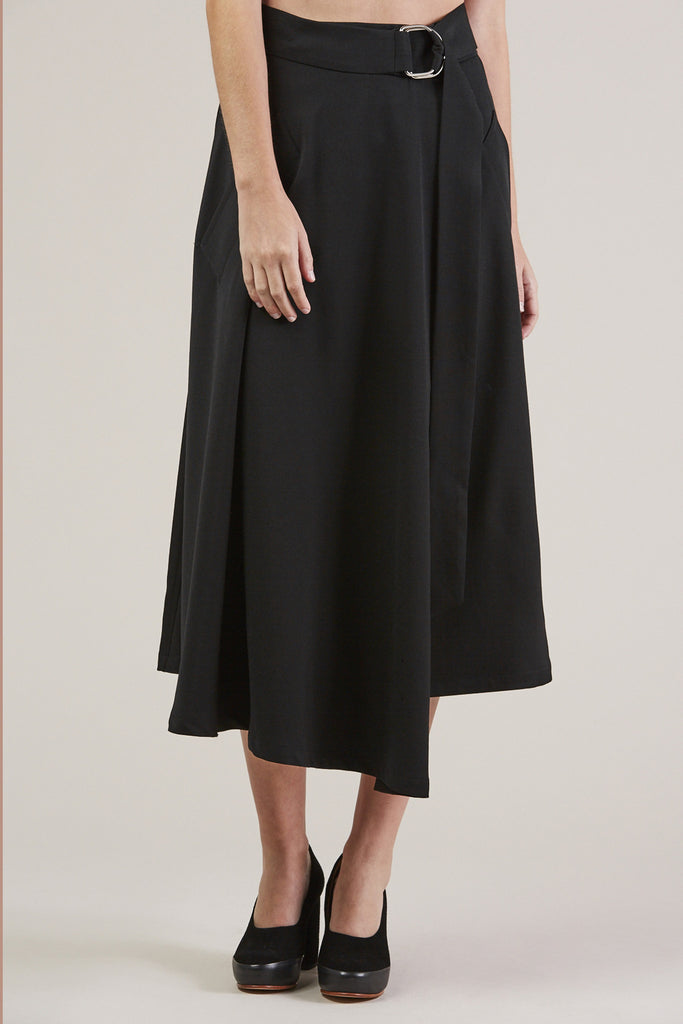 Long Skirt, Black by Veronique Leroy @ Kick Pleat - 8
