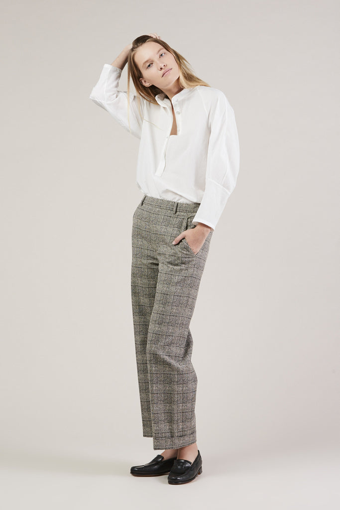 Posma Trousers, Plaid by Christian Wijnants @ Kick Pleat - 1