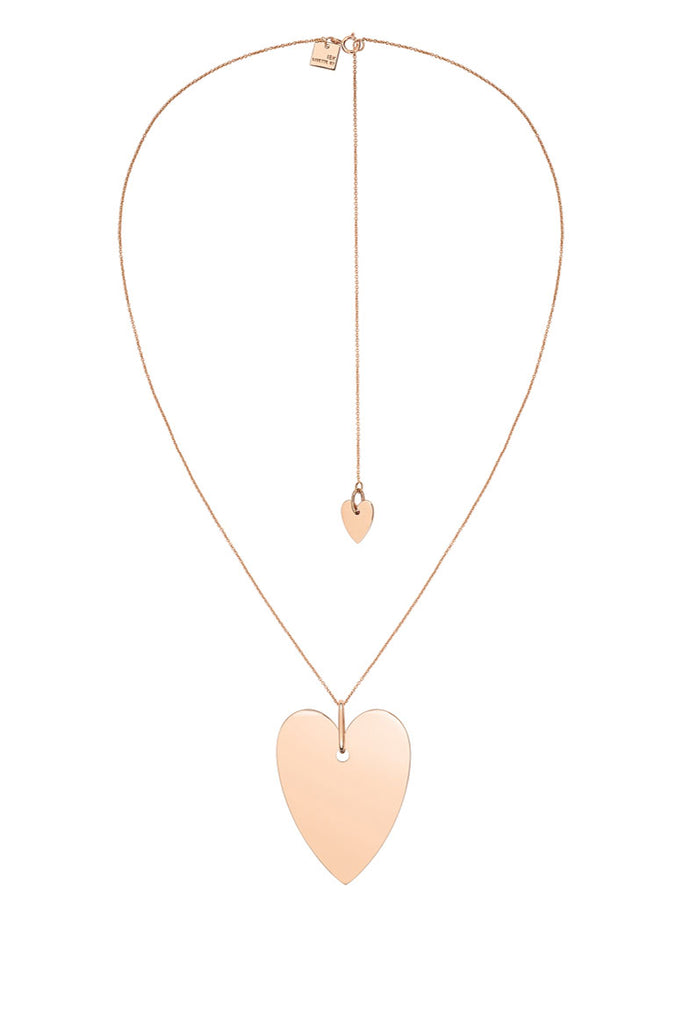 GINETTE NY - Angele Jumbo Heart Necklace, Rose Gold