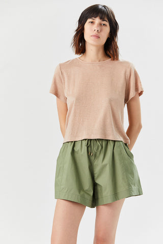 Andi Cropped Tee, Sand
