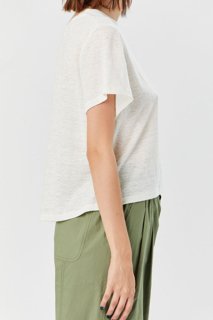Apiece Apart - Andi Cropped Tee, Cream