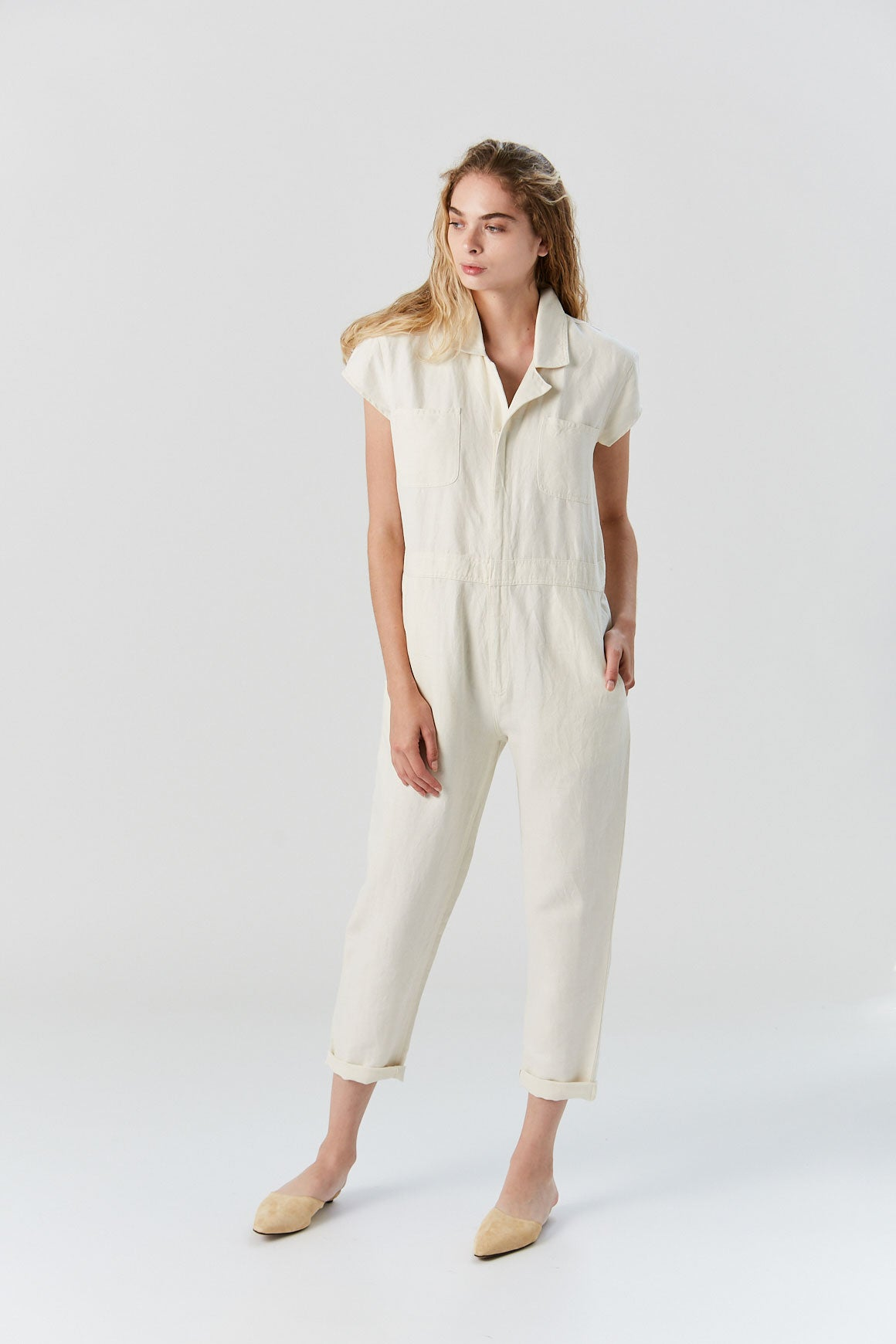 Apiece Apart - Azore Jumpsuit, Cream