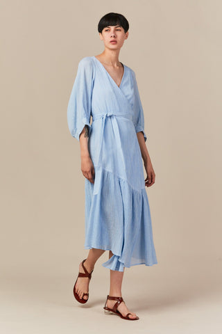 Bougainvillea wrap dress