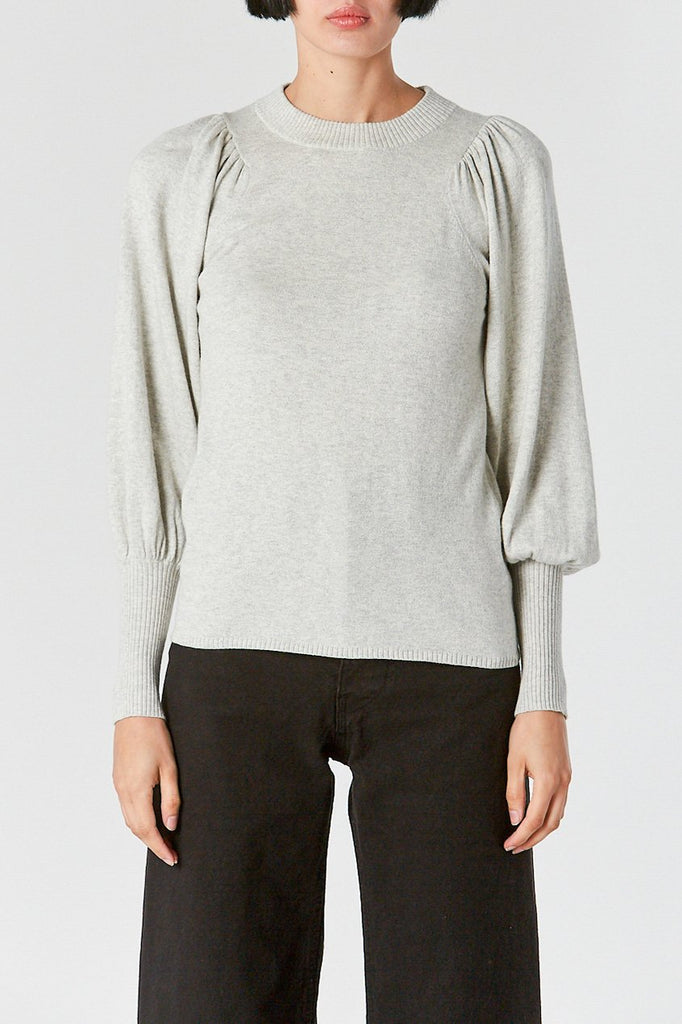 Dewi Puff Sleeve Crewneck, Cloud