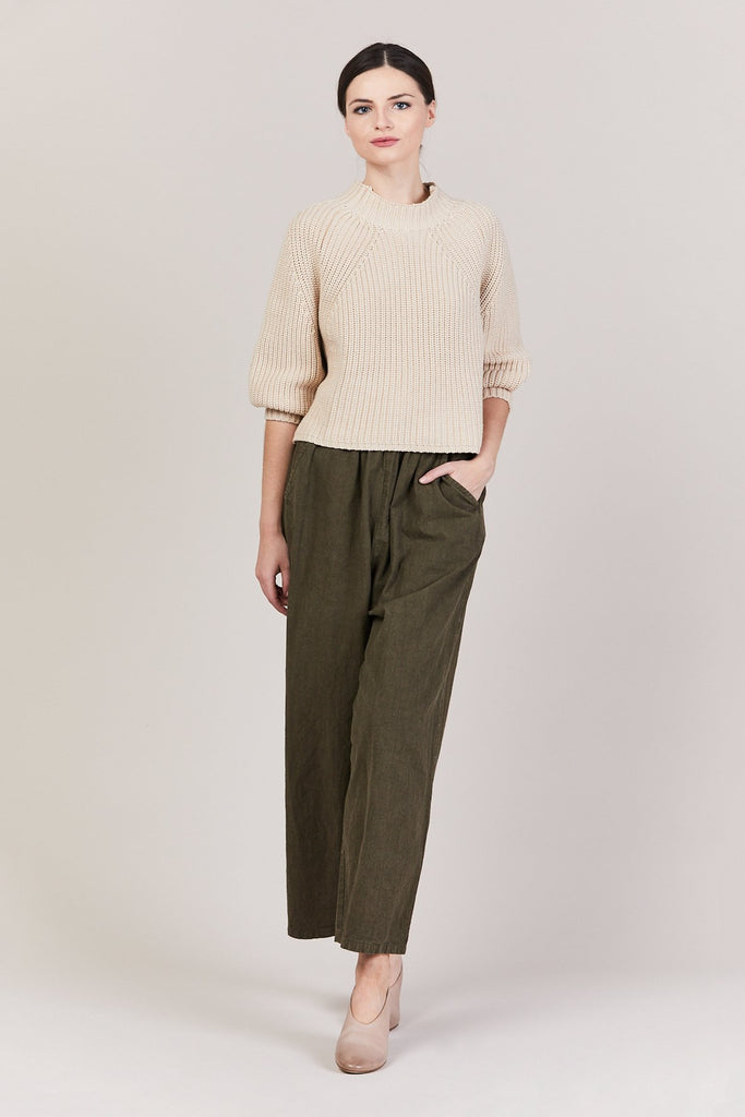 Apiece Apart - Merel Funnel Neck Crop, Wheat