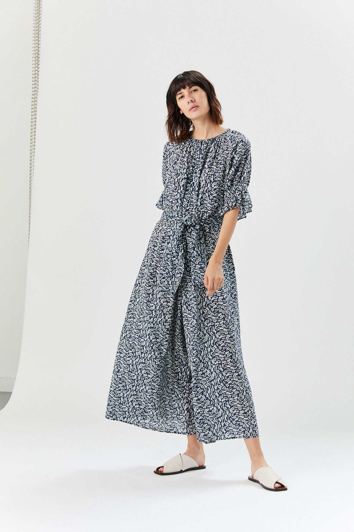 Apiece Apart - Ninos Jumpsuit, Navy Dot