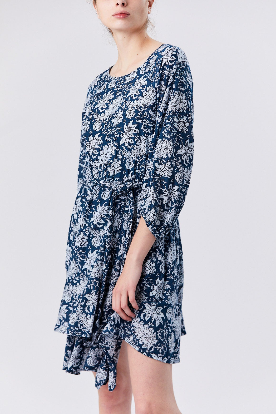Apiece Apart - Sabine Mini Dress, Navy Floral