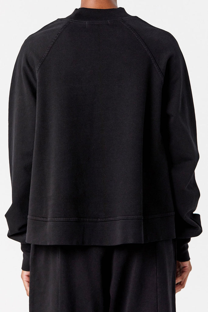 APIECE APART - Sequoia Mock Sweatshirt, Black