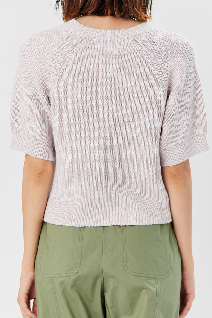 Apiece Apart - Serra Cropped Sweater, Lavender