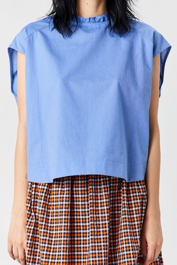 Atlantique Ascoli - Sleeveless Blouse, Sky Blue