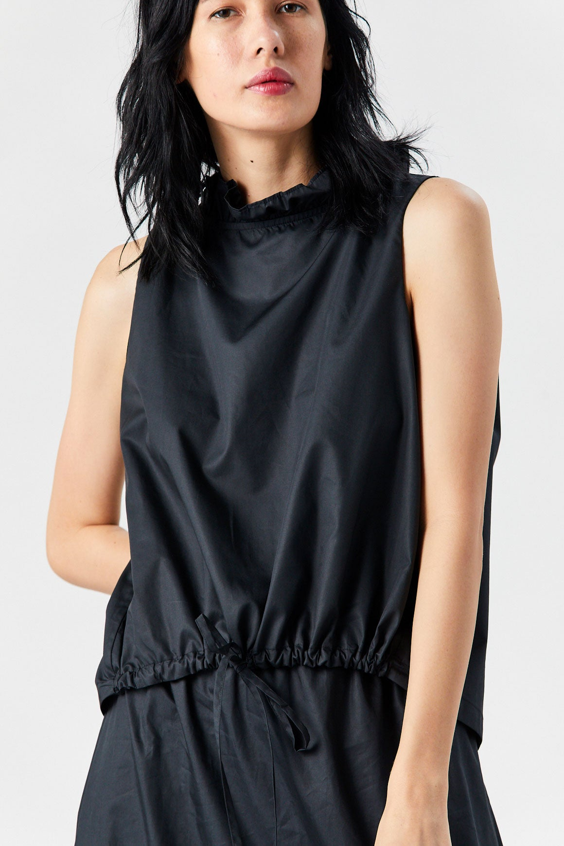 Atlantique Ascoli - Sleeveless Blouse, Black