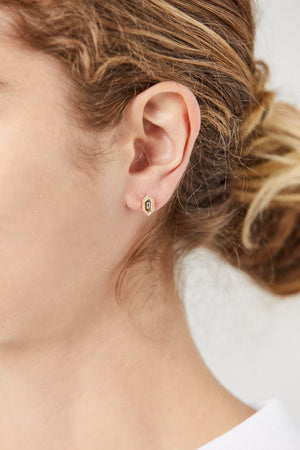 N/S Diamond Stud Earrings, Gold